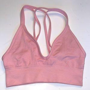 Lululemon Sports Bra Pink Strappy